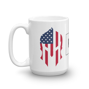 American Spartan Flag Patriot Strong Coffee Mug | Light Color