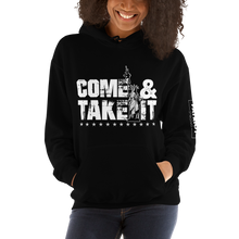 Load image into Gallery viewer, Gun Control 2nd Amendment Hoodie | Come & Take It Lady Liberty | Dark Sweat Shirts