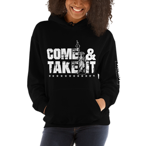 Gun Control 2nd Amendment Hoodie | Come & Take It Lady Liberty | Dark Sweat Shirts