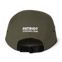 Load image into Gallery viewer, Patriot Strong Five Panel Low Profile Embroidered Cap | Dark Colors