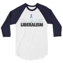 Load image into Gallery viewer, Find The Cure Raglan Jersey T-Shirt | Liberalism | Various Colors