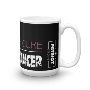 Cure Breast Cancer Mug | Find The Cure Breast Cancer Coffee Mug | Dark Color