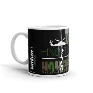 Homeless Veterans Mug | Find The Cure Homeless VETS Coffee Mug | Dark Color