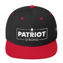 Load image into Gallery viewer, Patriot Strong 3D Puff Embroidered Heather Color Premium Hat | White Embroidery