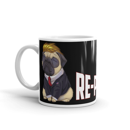 Trump Pug Republican Mug | I Vote Repuglican Coffee Mug #3 | Dark Color