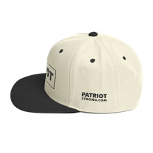 Load image into Gallery viewer, Patriot Strong 3D Puff Embroidered Natural & Black Premium Hat | Black Embroidery