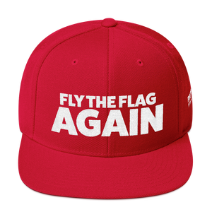 Fly The Flag Again Hat | White Embroidery On Various Colors