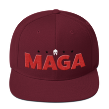 Load image into Gallery viewer, MAGA Hat Featuring 3D Puff Embroidered Red MAGA Letters | Various Colors Available