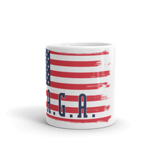 Load image into Gallery viewer, MAGA Flag Mug | Make America Great Again Coffee Mug | Large Txt On White