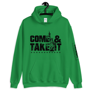 Gun Control 2nd Amendment Hoodie | Come & Take It Lady Liberty | Light Color Sweat Shirts