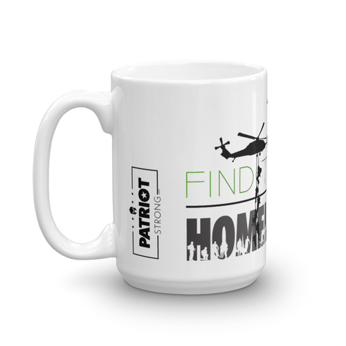 Homeless Veterans Mug | Find The Cure Homeless VETS Coffee Mug | Light Color