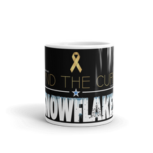 Load image into Gallery viewer, Cure Snowflakes Mug | Find The Cure Snowflakes Coffee Mug | Dark Color