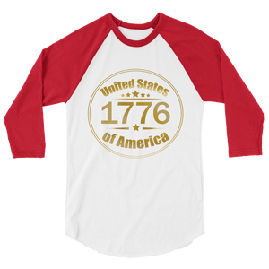 1776 United Stated of America Raglan Jersey T-Shirt | Various Colors