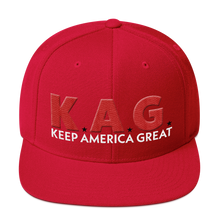 Load image into Gallery viewer, K.A.G. Keep America Great Hat With Red 3D Puff Embroidery | Various Colors Available