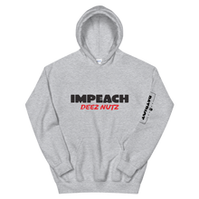Load image into Gallery viewer, Impeach Deez Nuts Anti Trump Impeachment Hoodie | Light Colors