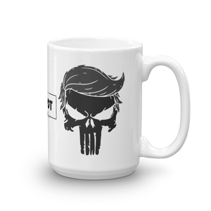 Trump Punisher Blacked Out Coffee Mug | Light Color