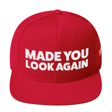 Load image into Gallery viewer, Made You Look Again | White Embroidered Red Hat