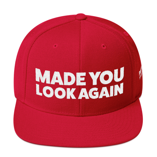 Made You Look Again | White Embroidered Red Hat