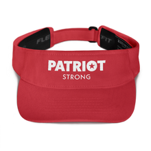 Load image into Gallery viewer, Patriot Strong Embroidered Visor | Dark Colors