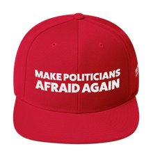 Load image into Gallery viewer, Make Politicians Afraid Again | White Embroidered Red Hat