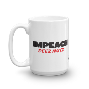 Impeach Deez Nuts Trump Impeachment Protest Coffee Mug | Light Color Mug