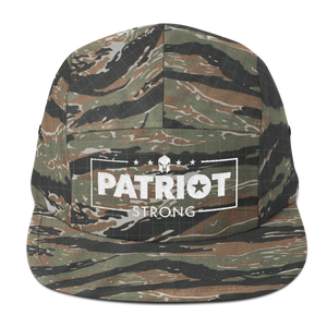 Patriot Strong Five Panel Low Profile Embroidered Cap | Dark Colors
