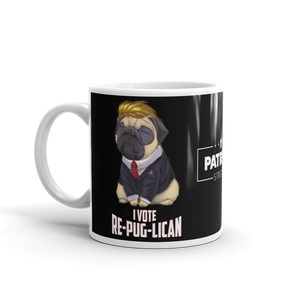 Trump Pug Republican Mug | I Vote Repuglican Coffee Mug #1 | Dark Color