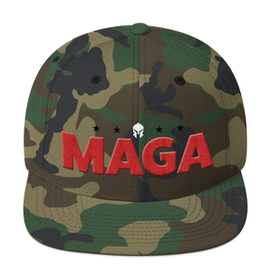 MAGA Hat Featuring 3D Puff Embroidered Red MAGA Letters | Various Colors Available