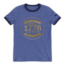 Load image into Gallery viewer, 1776 United Stated of America Ringer T-Shirt | Various Colors