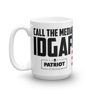 Trump Mug | IDGAF CAll The Media Trump Mug | Light Color