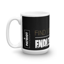 Load image into Gallery viewer, Stop Endless War Mug | Find Victory Over Endless War Coffee Mug | Dark Color