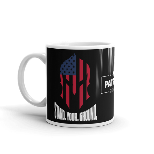 Stand Your Ground American Spartan Flag Coffee Mug | Dark Color