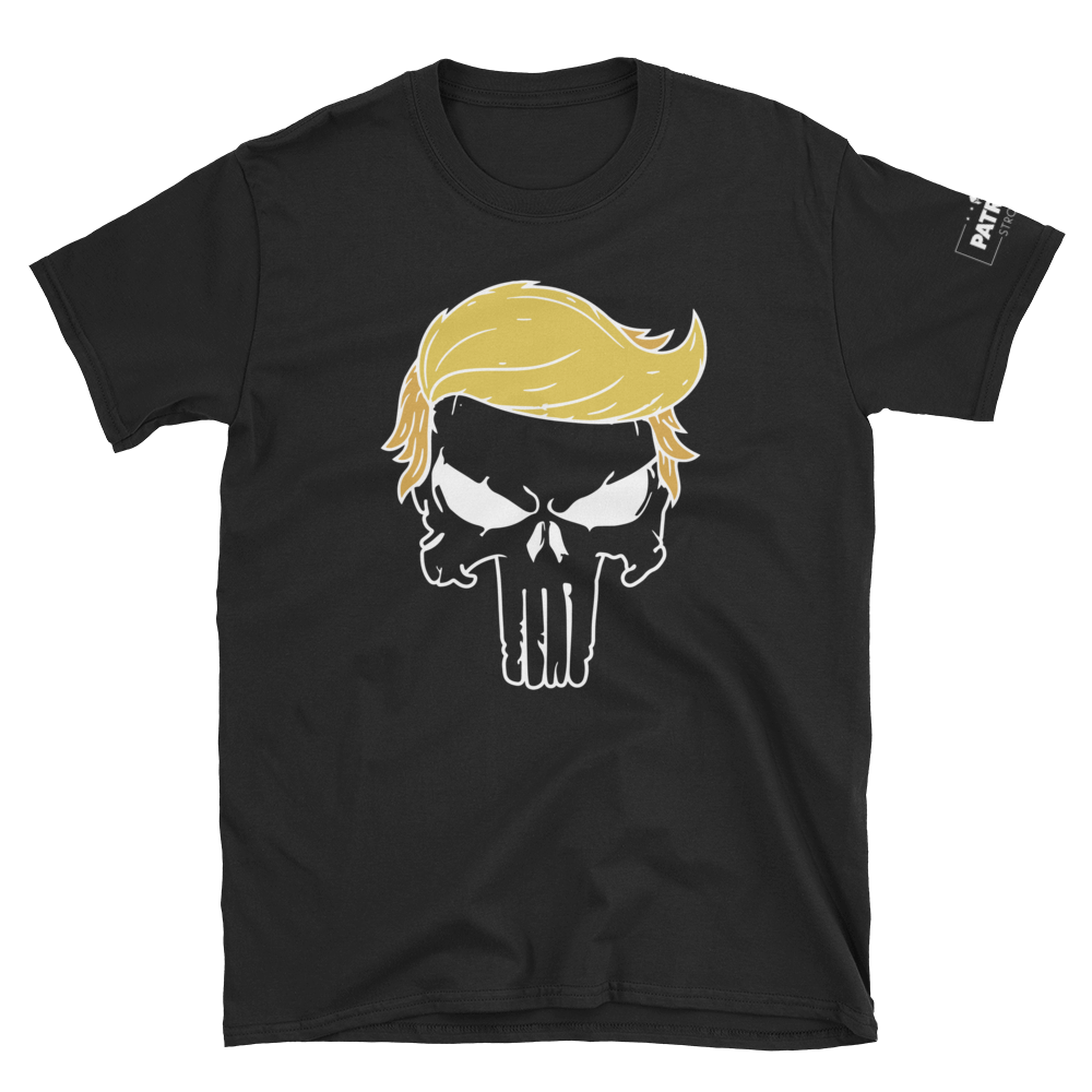 Trump Punisher T-Shirt | Outlined Skull | Dark Colors