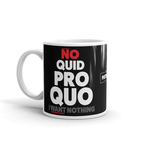 Pro Trump Coffee Mug | Anit Impeachment Inquiry | No Quid Pro Quo Mug | Dark Colors