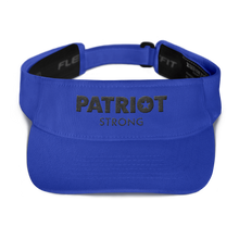 Load image into Gallery viewer, Patriot Strong Red Embroidered Visor | Light Colors