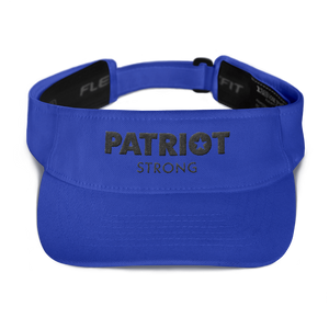 Patriot Strong Red Embroidered Visor | Light Colors