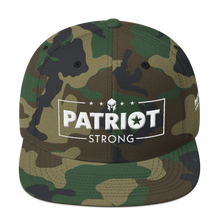 Load image into Gallery viewer, Patriot Strong 3D Puff Embroidered Red Color Premium Hat | White Embroidery
