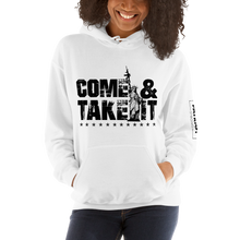 Load image into Gallery viewer, Gun Control 2nd Amendment Hoodie | Come & Take It Lady Liberty | Light Color Sweat Shirts