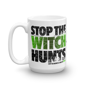 Stop The Political Witch Hunts Coffee Mug | Light Colors
