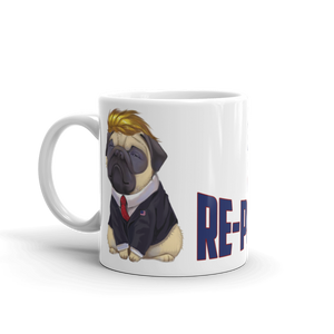 Trump Pug Republican Mug | I Vote Repuglican Coffee Mug #3 | Light Color
