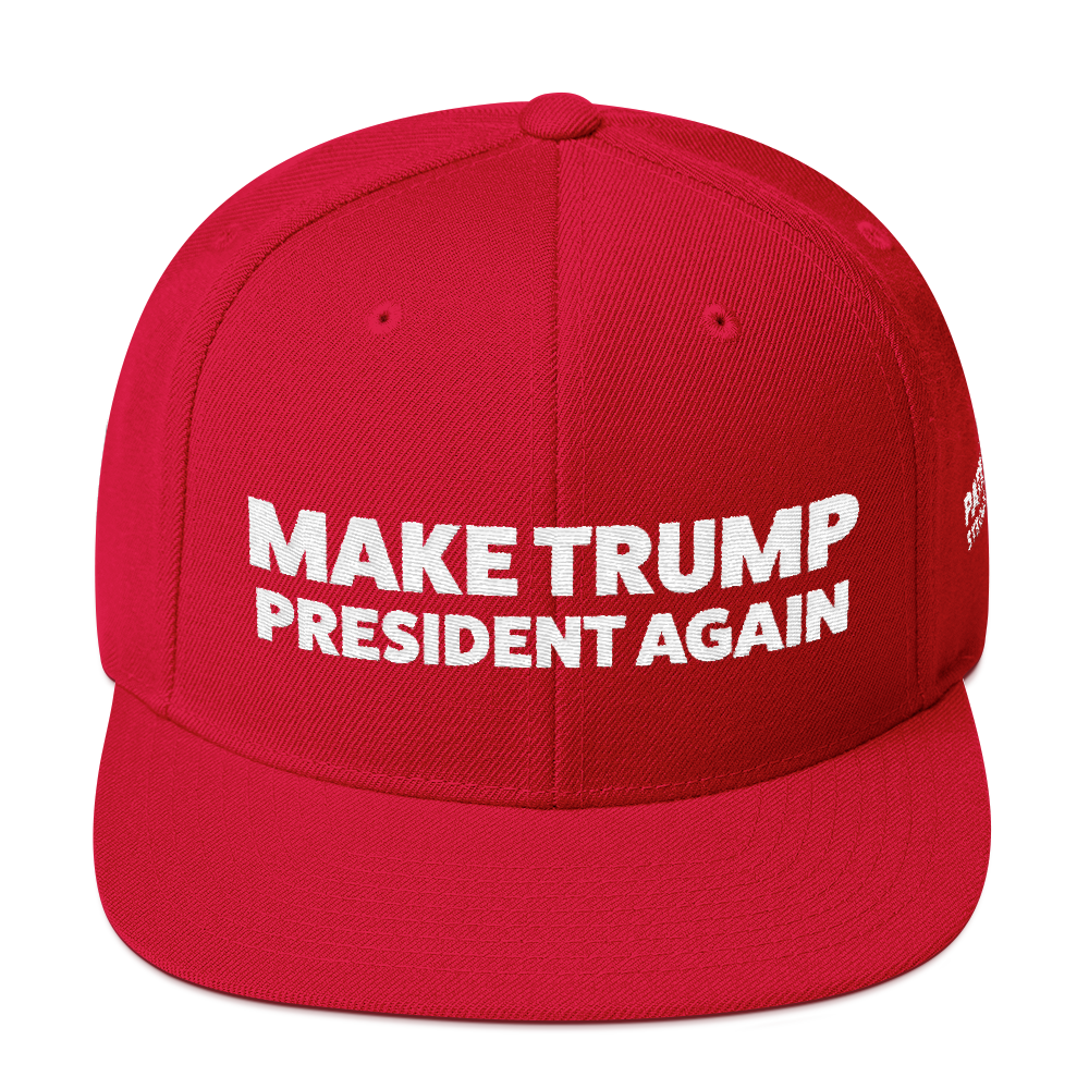 Make Trump President Again | White Embroidered Red Hat