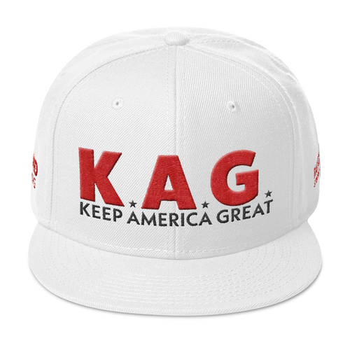 Ultimate Keep America Great Hat With Red 3D Puff Embroidery | Light Colors
