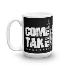 Load image into Gallery viewer, Lady Liberty AR-15 Gun Control Come & Take It Coffee Mug | Dark Color Mug