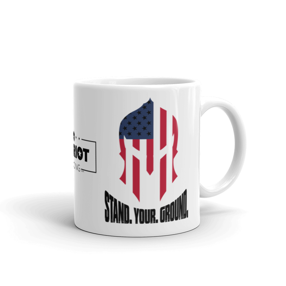 Stand Your Ground American Spartan Flag Coffee Mug | Light Color