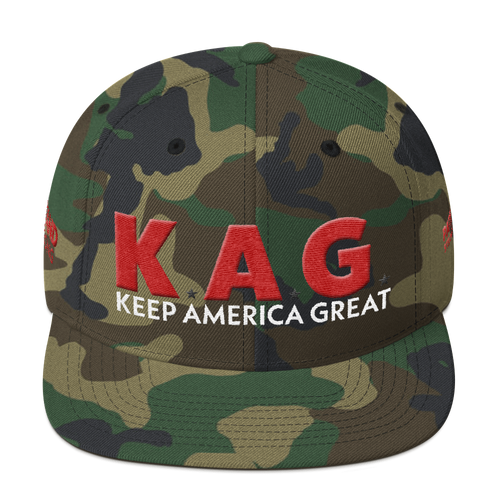 Ultimate Keep America Great Hat With Red 3D Puff Embroidery in Camouflage | Dark Colors