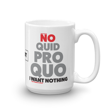 Load image into Gallery viewer, Pro Trump Coffee Mug | Anit Impeachment Inquiry | No Quid Pro Quo Mug | Light Colors