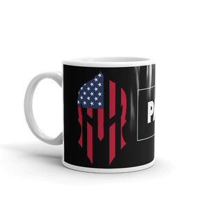 American Spartan Flag Patriot Strong Coffee Mug | Dark Color