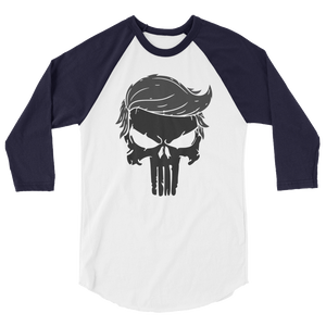 Trump Punisher Raglan Jersey T-Shirt | Blacked Out | Various Colors