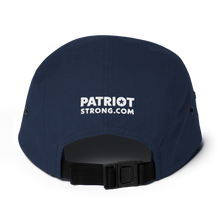 Load image into Gallery viewer, Patriot Strong Five Panel Camouflage Low Profile Embroidered Cap | Dark Colors