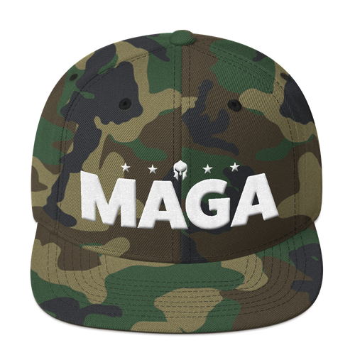 MAGA Hat Featuring 3D Puff Embroidery | Make America Great Again | Shown in Camo, Various Colors Available